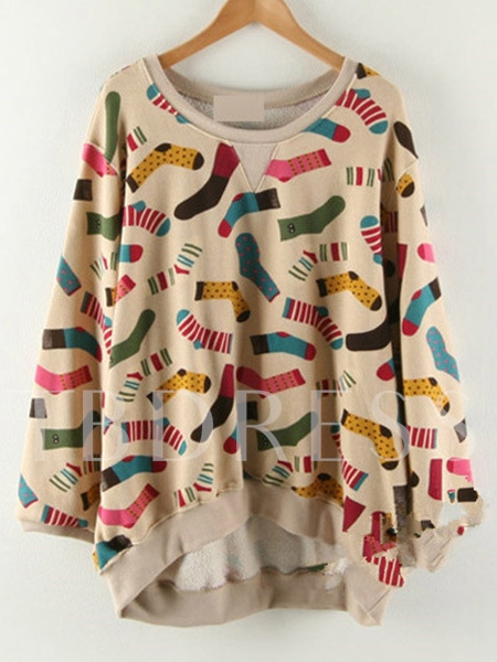 Print Loose Women's Sweatshirt