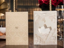 Hollow-Out Newlyweds Invitation Cards (20 Pieces One Set)