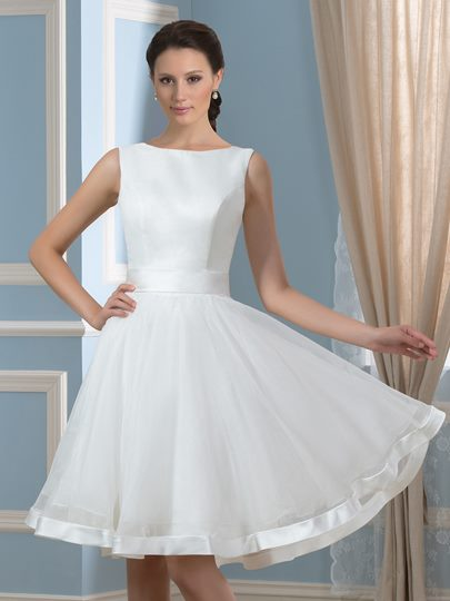 Bowknot Open Back Short Wedding Dress