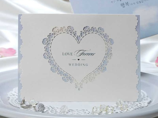 Hollow-Out Sweetheart Invitation Cards (20 Pieces One Set)