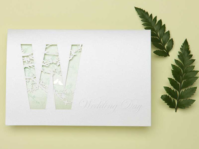 Hollow Wedding Invitation Cards (20 Pieces One Set)