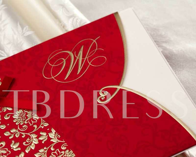 Two-Tone Color Groom&Bride Wedding Invitation Cards (20 Pieces One Set)