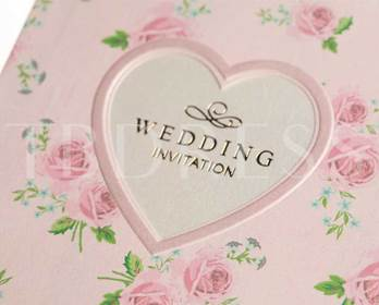 Sweetheart Floral Patterns Wedding Invitation Cards (20 Pieces One Set)
