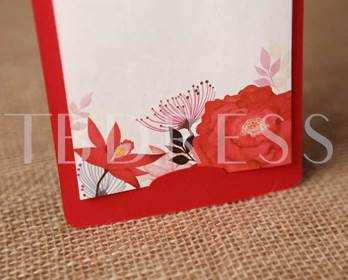 Floral Wedding Invitation Cards (20 Pieces One Set)