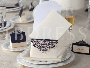Lace Hollow-Out Invitation Cards (20 Pieces One Set)
