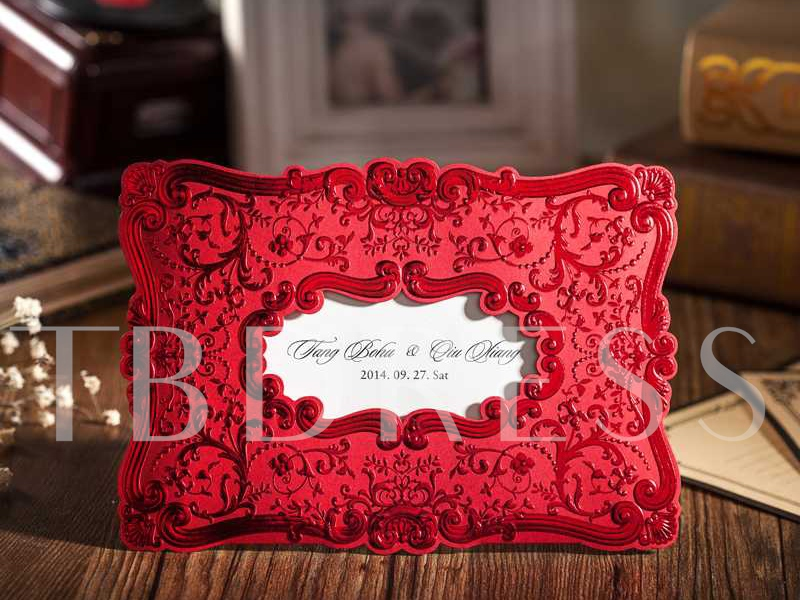 Red Wedding Invitation Cards (20 Pieces One Set)