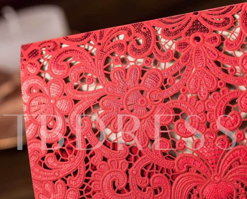 Two-Tone Hollow-Out Wedding Invitation Cards (20 Pieces One Set)