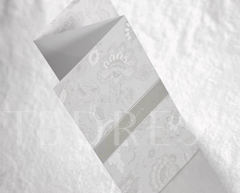 Floral Patterns Bow knot Wedding Invitation Cards (20 Pieces One Set)