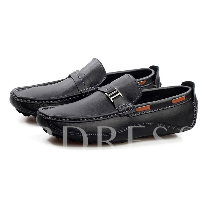 Slip-On Square Toe Flat Heel Men's Loafers