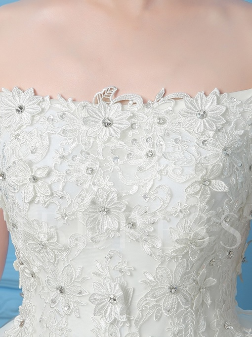Off-the-Shoulder Beading Lace Tiered Homecoming Dress