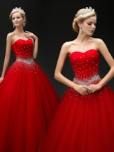 Sequins Beading Lace-Up Quinceanera Dress