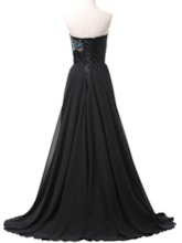 A-Line Sweetheart Embroidery Lace-Up Evening Dress