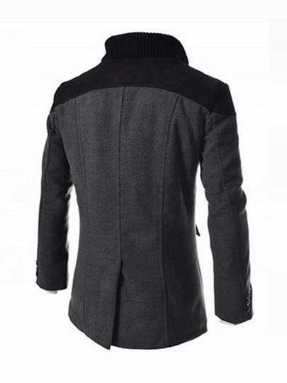 Men's Wool Blends Jacket with Two Tone