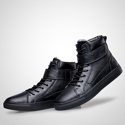 Contrast Color Flat Heel Lace-Up Front Round Toe Men's Ankle Boots