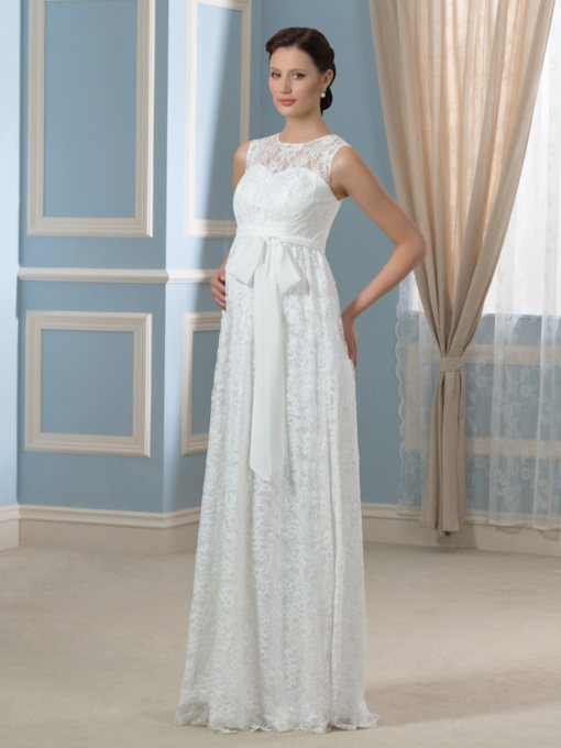 Sashes Sashes Lace Maternity Wedding Dress