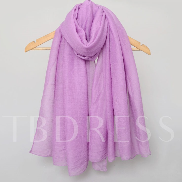 Multicolor Optional Pure Color Scarf