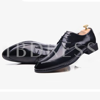 Pointed Toe Square Low Heel Slip-On Men's Oxfords