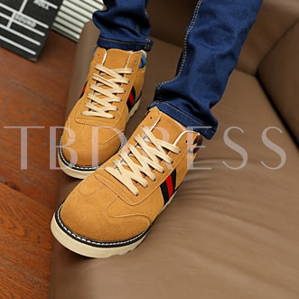 Flat Heel Round Toe Lace-Up Front Ankle Men's Boots