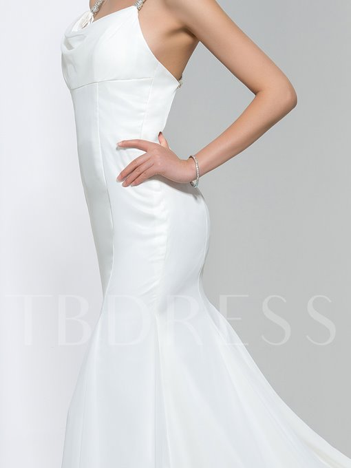 Modern Criss-Cross Straps Backless Trumpet/Mermaid Chiffon Wedding Dress