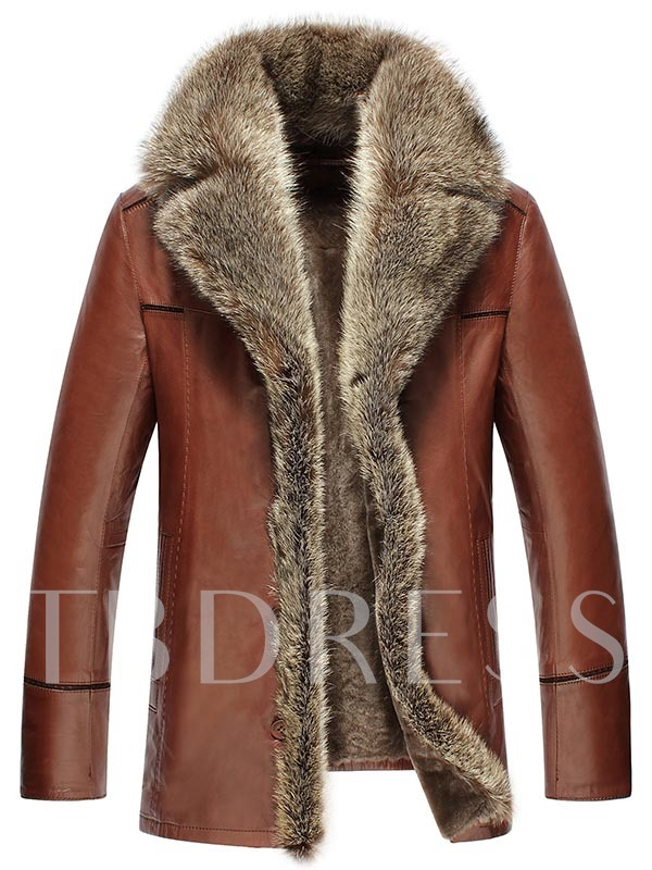 Faux Shearling Cardigan Slim Men's Jacket