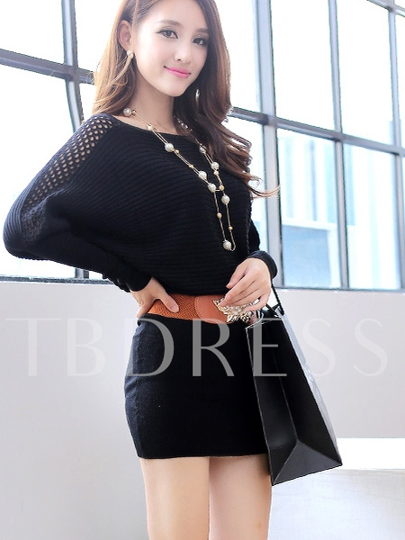 Buy Plain Round Neck Backless Women's Sweater Dress, Spring,Fall, 11495388 for $21.99 in TBDress store