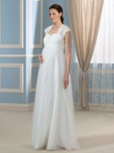 Straps Maternity Wedding Dress with Lace Jaket