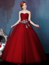 Sweetheart Ball Gown Ruched Bow Beading Pearls Quinceanera Dress