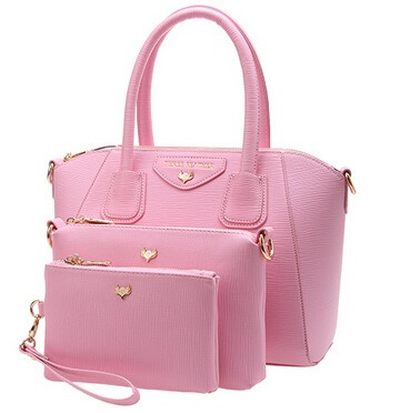 Pure Color Roomy Shell Women Tote Bag Set