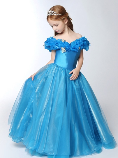 Adorable Butterflies Little Princess Flower Girl Dress