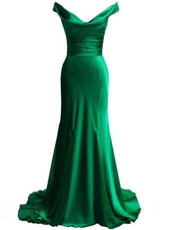 Simple Cowl Neck Mermaid Evening Dress
