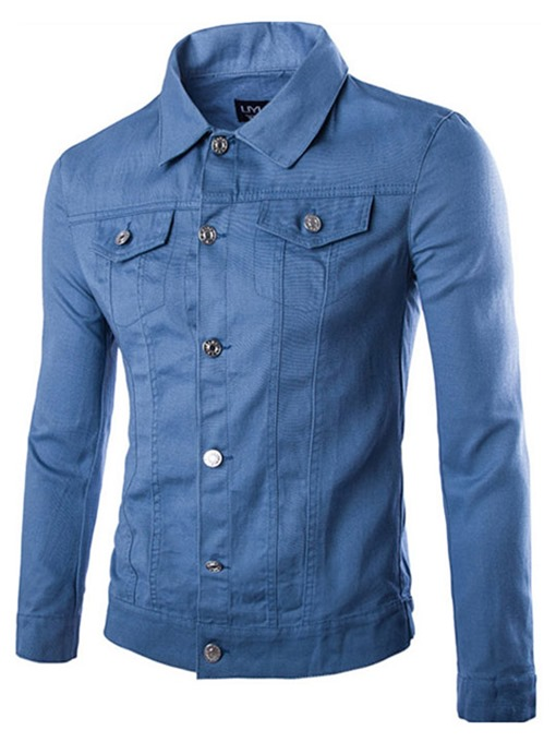 Double Front Pocket Men's Casual Jacket