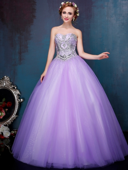 Sweetheart Rhinestone Beading Ball Gown Quinceanera Dress