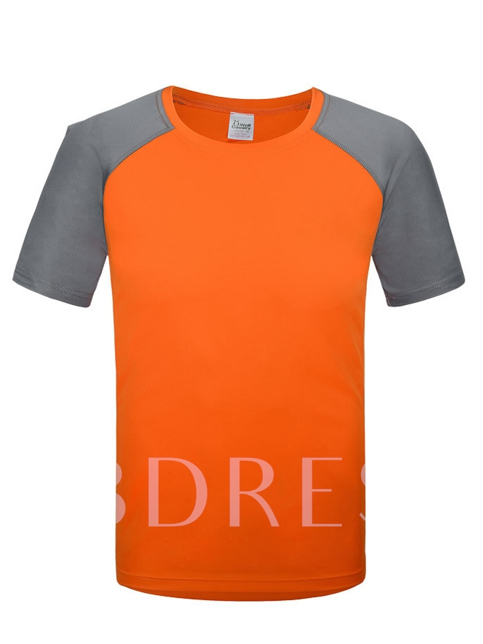 Round Collar Breathable Quick-Drying Short Sleeve Men's T-shirt