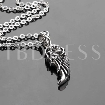 Angel's Wings Stainless Steel African Men's Necklace