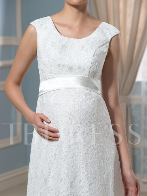 Pregnancy A-Line Lace Empire Waist Maternity Wedding Dress