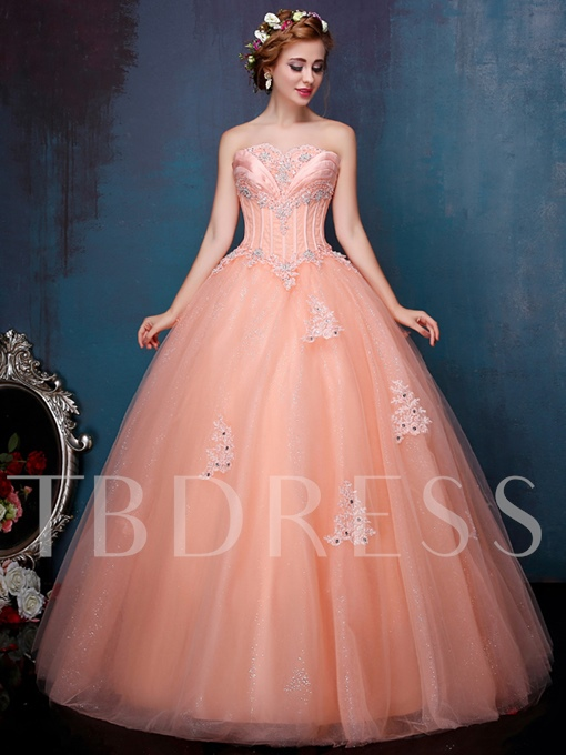 Sweetheart Ball Gown Sequins Beading Quinceanera Dress
