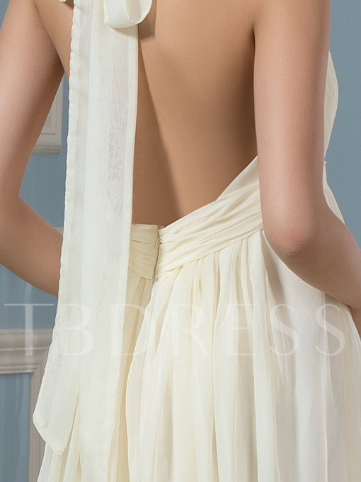 Sexy Backless Halter Maternity Wedding Dress