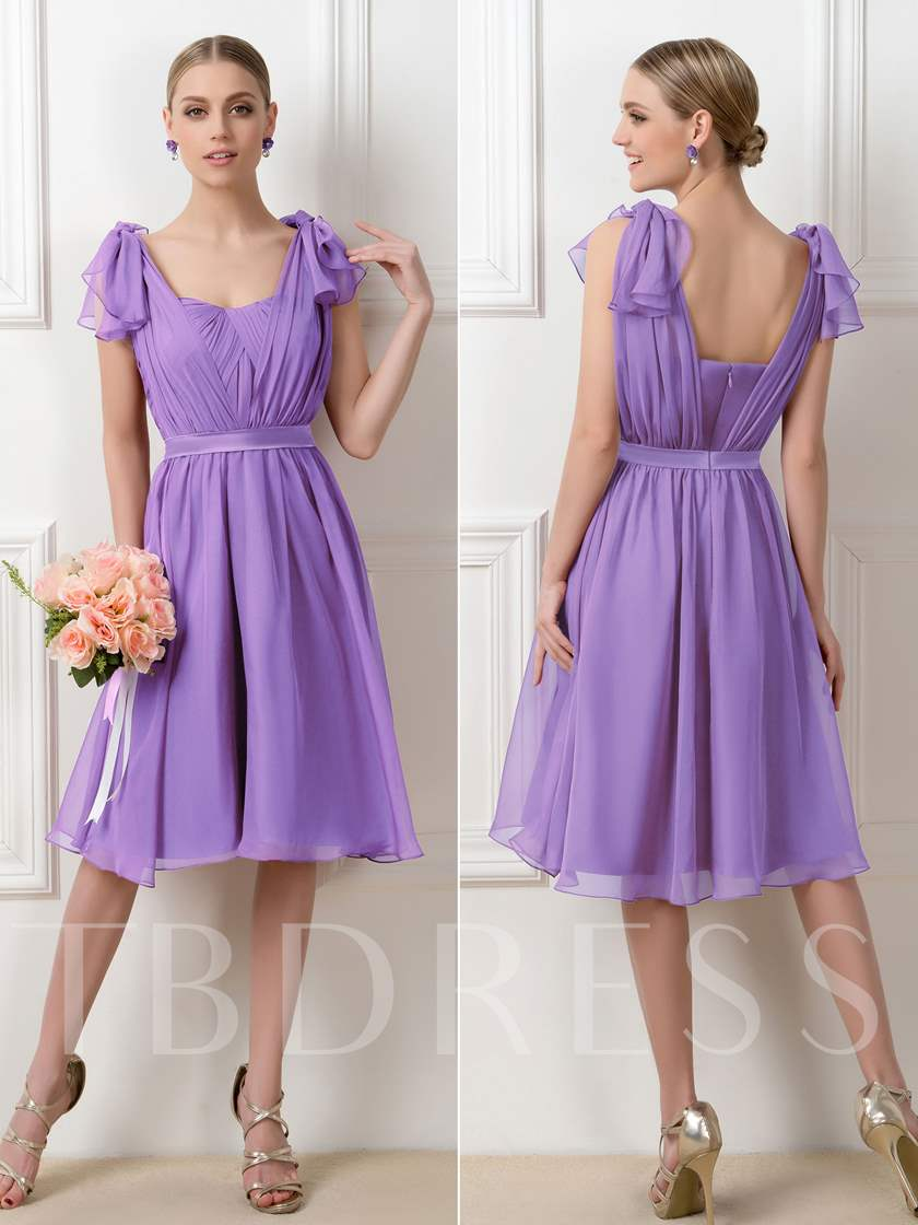 Ruched A-Line Short Convertible Bridesmaid Dress