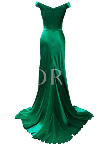 Mermaid Cowl Draped Floor-Length Evening Dress