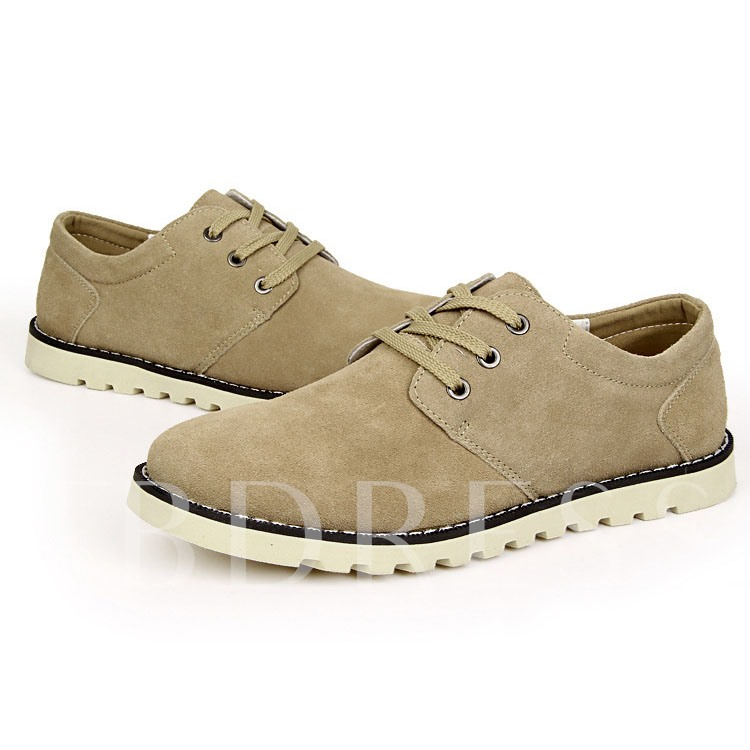Lace-Up Front Flat Heel Round Toe Men's Oxfords