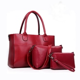 Pure Color Plain Concise Women Bag Set (3 Bags)