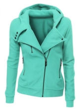 Solid Color Hooded Long Sleeve Women's Hoodie