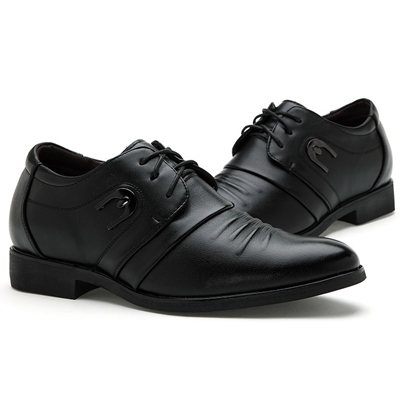 Lace-Up Front Square Heel Pointed Toe Sequins Men's Oxfords
