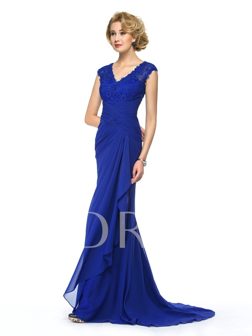 Lace Beading Sheath Mother of the Bride Dress