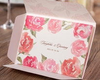 Flower Print Wedding Invitation Cards (20 Pieces One Set)