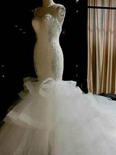 Mermaid Beaded Straps Mermaid Wedding Dress
