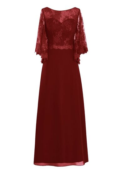 Sleeves Lace Mother of the Bride Dress