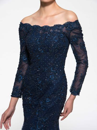 Long Sleeve Lace Mother of the Bride Dress