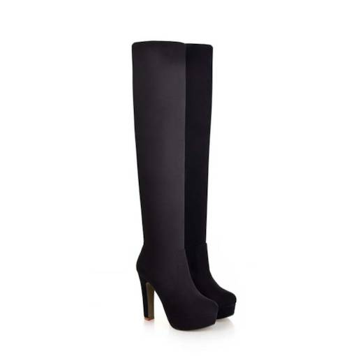 Stiletto Heel Platform Slip-On Over-the-Knee Women's Boots