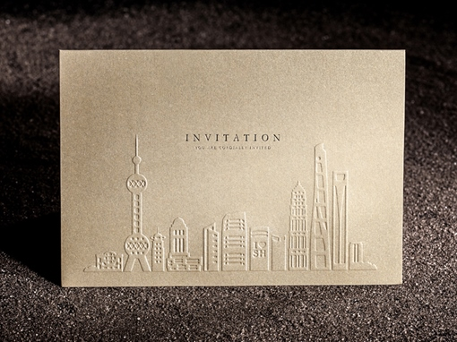 Skyscraper Wedding Invitation Cards (20 Pieces One Set)